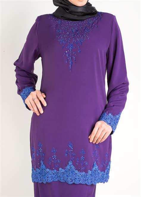 Baju Kurung Moden Purple Lace baju kurung moden saffiya plus size purple lovelysuri