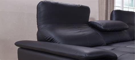 canap 233 noir en cuir en stock a prix bas