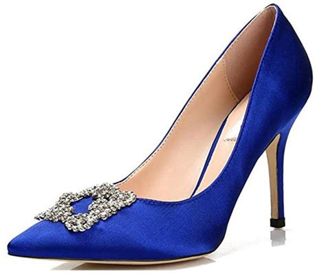Homedesigner by Manolo Blahnik Replica Blue Pumps Shoeaholics Anonymous