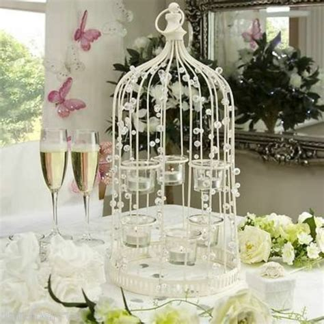 10 JEWELLED/BEADED BIRDCAGE/TEALIGHT HOLDER/WEDDING