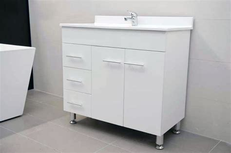 900mm Vanity Unit Sale by Daedalus Wpl900l 900mm Polyurethane Vanity Unit With