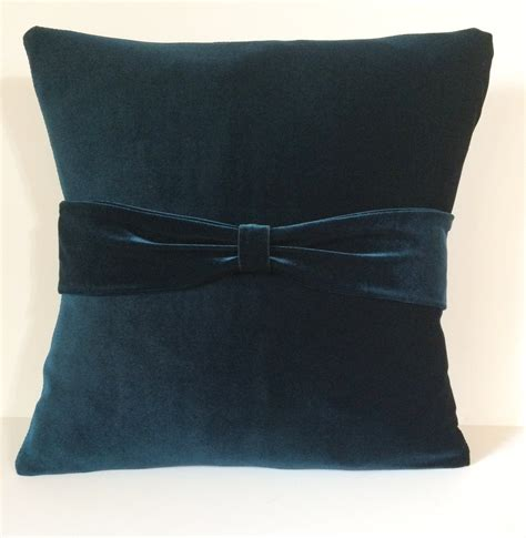 Teal Sofa Pillows by Teal Velvet Sofa Throw Pillow Cover Pillow Slipcover
