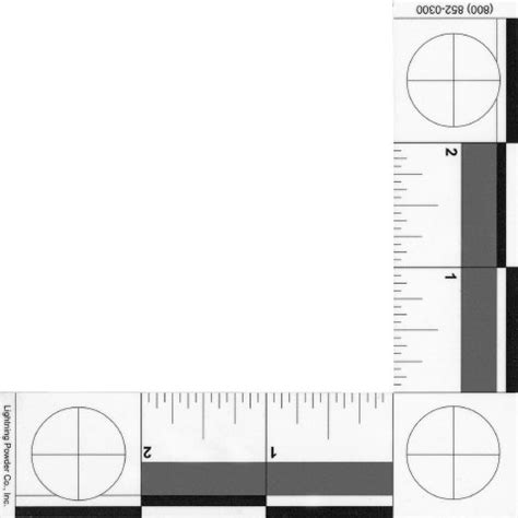 printable forensic ruler l shaped photograpic scale