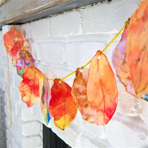 leaf crafts projects coffee filter fall leaves project for