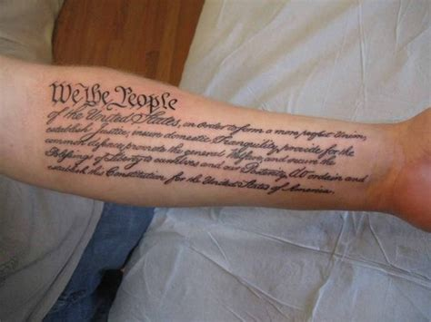 constitution tattoo preamble to the picture at checkoutmyink