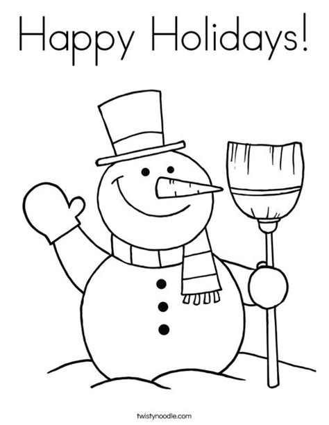 free coloring pages happy holidays happy holidays free colouring pages