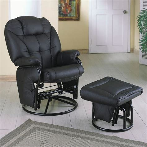 leather glider recliner with ottoman santa clara furniture store san jose furniture store