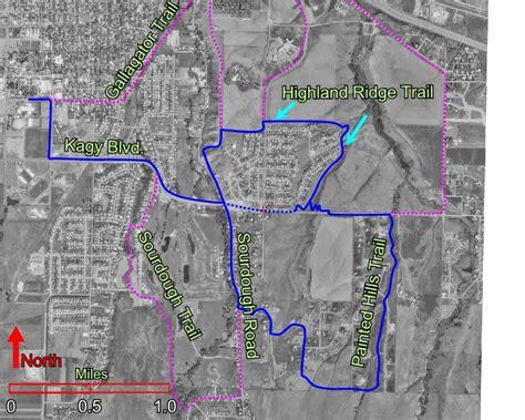 bozeman trail map road and trail routes near msu cus bozeman mt