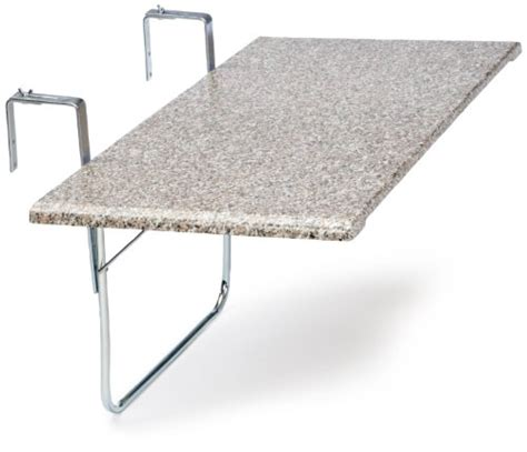 balkongeländer verzinkt videx 16402 balkonklapptisch terrazo design 51x102cm