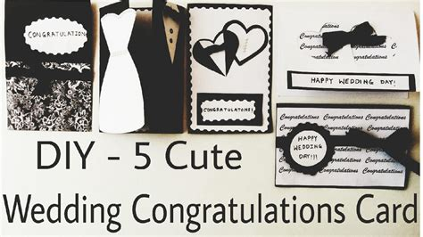 Handmade Wedding Congratulation Cards by Diy 5 Wedding Congratulation Cards Handmade Cards