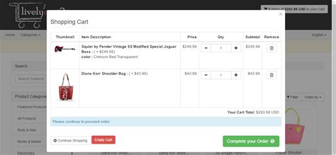 free shopping cart templates in php livelycart 2 a and simple javascript php shopping