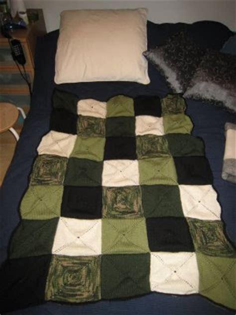 Knitted Patchwork Quilt - knitted patchwork quilt