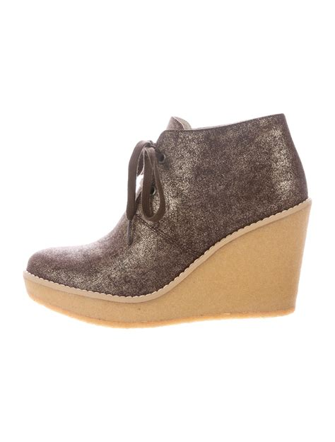 Stella Mccartney Wedges stella mccartney lace up wedges booties shoes stl41493