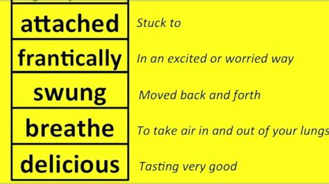 vocabulary word meanings part 2 of 5 grades 1