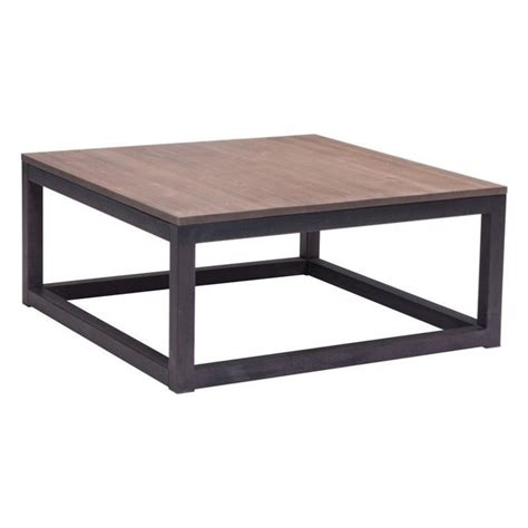 Distressed Square Coffee Table Zuo Civic Center Square Distressed Coffee Table Ebay