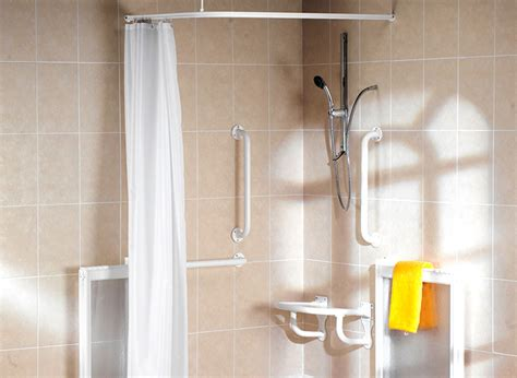 wet room curtains shower enclosures mobility bathrooms support fittings