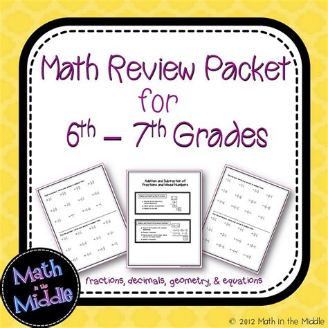 resources for summer packets middle school 7th grade awesome 6th grade math review images worksheet