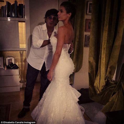 elisabetta canalis wedding dress elisabetta canalis wows in fringed skater dress at milan