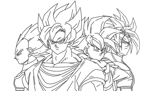 goku vs gohan coloring pages coloring pages