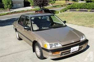 1989 Honda Civic For Sale 1989 Honda Civic Lx For Sale In Concord California
