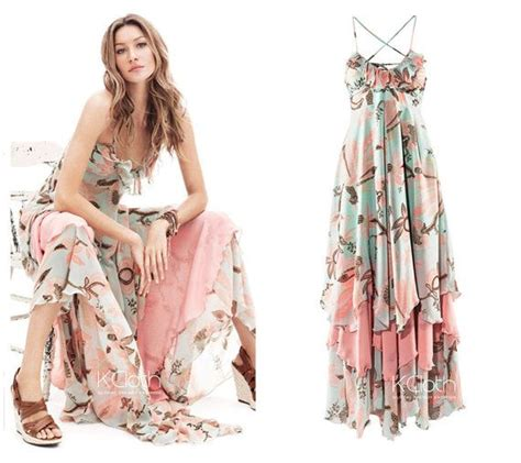 Who Wore It Better Couture Chiffon Ruffle Dress by Kcloth Maxi Dress With Ruffle Floral Printed D1337 Halter