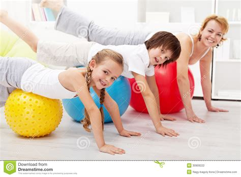 healthy doing balancing exercise at home stock photography image 30909222