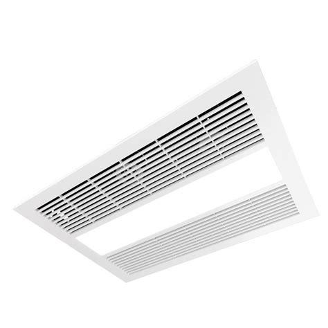 ventair sahara 3in1 white exhaust fan light amp heater