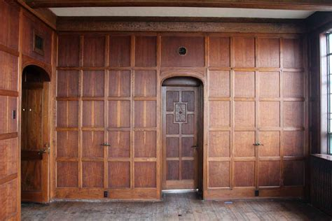paneled rooms arts crafts solid oak paneled room olde good things