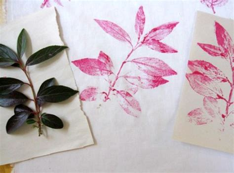 leaf printing on fabric