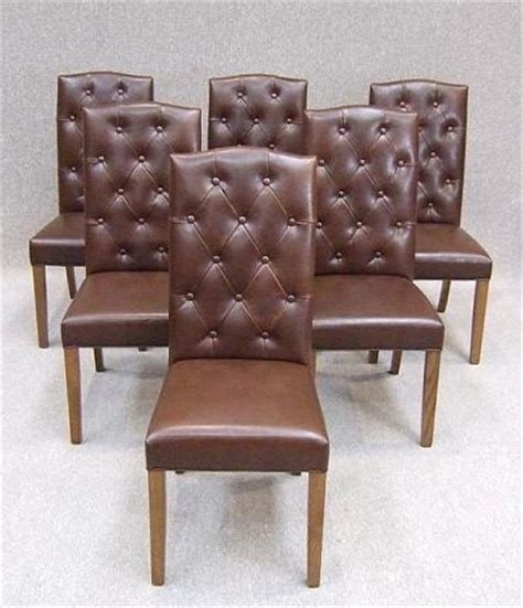 leather dining chair chesterfield style
