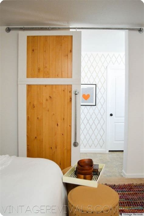 Diy Barn Doors Make A Diy Sliding Barn Door Out Of Simple Hardware Store Finds Photos Huffpost
