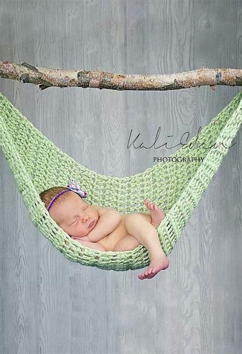 Crochet Hammock Pattern Free crocheted newborn hammock photography prop by