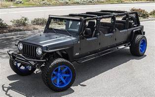 Jeep Wrangler Doors Seen A 6 Door Jeep Wrangler Roader