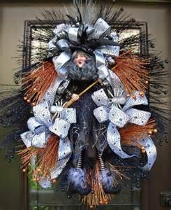 Witch Door Decoration Halloween Wreaths Witch Wreath Door Decor Fall Door Wreath
