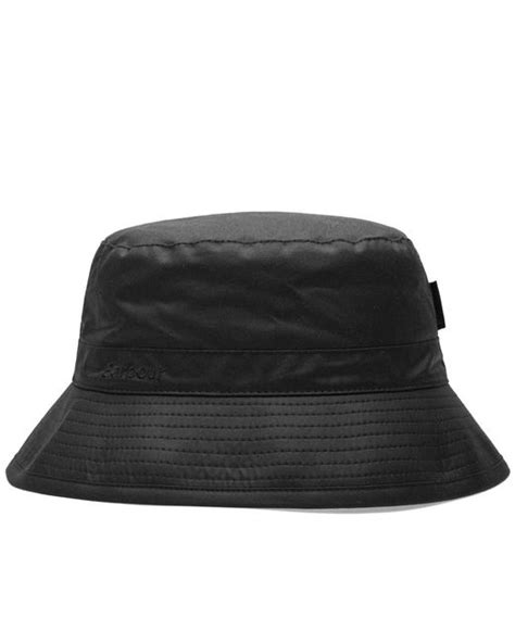 Barbour Wax Hat In Black lyst barbour wax sports hat in black for