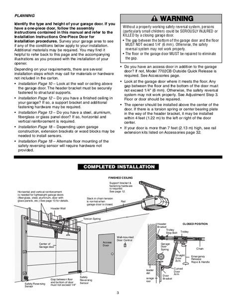 Chamberlain Garage Door Opener Manual Overhead Door Manual