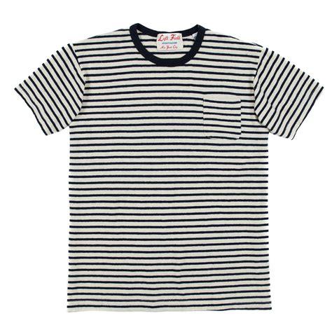 Kaos Polos Oblong Pocket Tees With Stripe Original Kh15 left field nyc hemp cotton pocket navy stripe garmentory