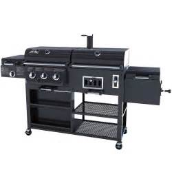 Backyard Grill Gas Charcoal Combination Grill Smoke Hollow 4 In 1 Combo Grill 3 Burner Bbq Smoker Box Gas And Charcoal New Ebay