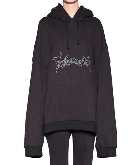 Jaket Sweater Hoodie Marshmello Black 1 lyst vetements logo hoodie in black
