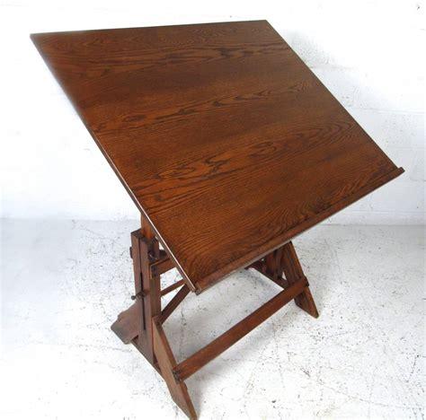 Oak Drafting Table Vintage Rustic Oak Drafting Table At 1stdibs