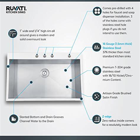 ruvati turino single handle kitchen faucet with pull out ruvati rvh7401 undermount 16 gauge kitchen sink double