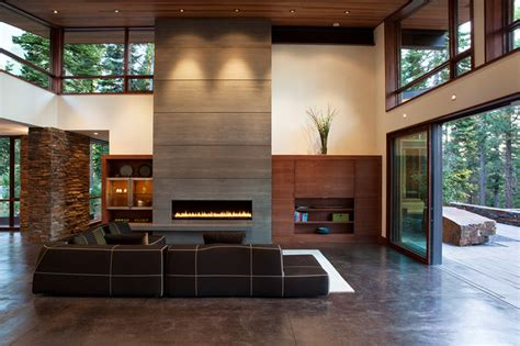 mountain modern digs contemporary living room