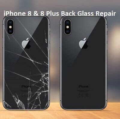 iphone     cover rear glass repair replacement service uk ebay