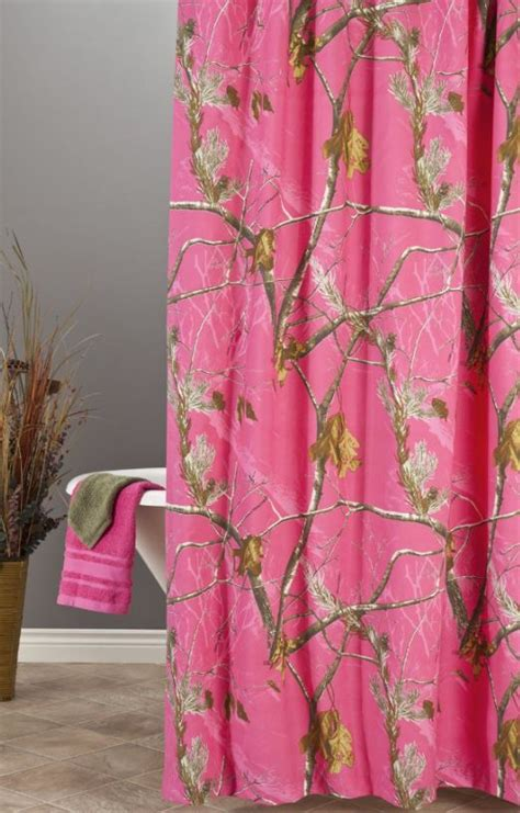 pink camo bathroom realtree hot pink camo shower curtain camo pinterest