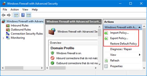 windows 10 firewall tutorial how to export and import firewall policy in windows 10