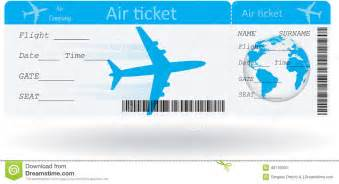 variant of air ticket stock vector image of background