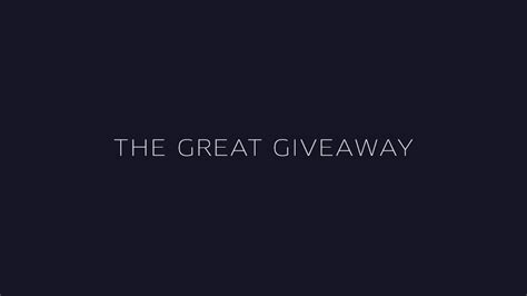 Great Giveaways - the great giveaway is back