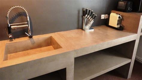 enduit decoratif cuisine mobilier sur mesure design en b 233 ton cir 233 d 233 coratif