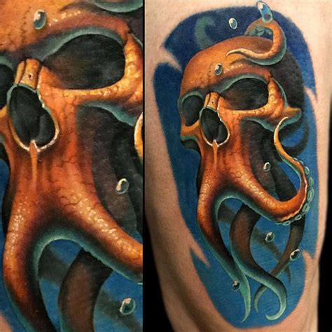 skull octopus tattoo skulltopus octopus skull mashup best ideas