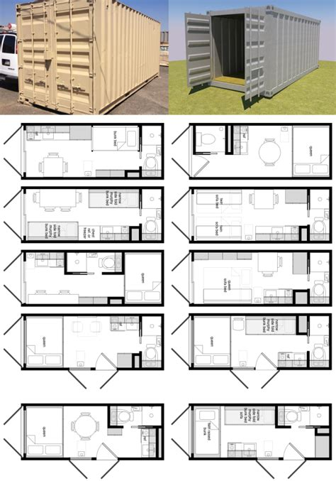 20 foot shipping container floor plan brainstorm tiny